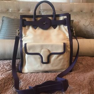 BALENCIAGA Fabric and Leather Tote